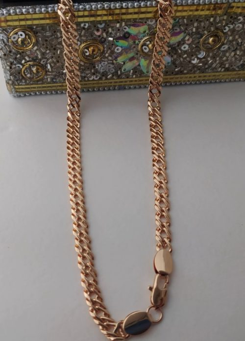 Позолоченная  цепочка плетения «Двойной ромб»