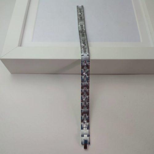 Родированный магнитный браслет