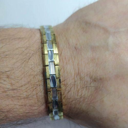Позолоченный магнитный браслет