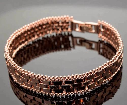 Пластинчатый позолоченный браслет