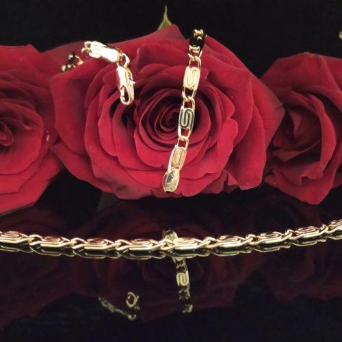 Женская позолоченная  цепочка плетения «Улитка»