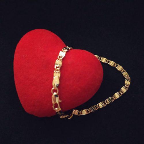 Женский позолоченный браслет улитка