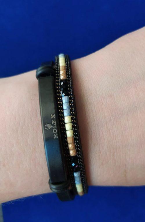 Кожаный браслет Rolex