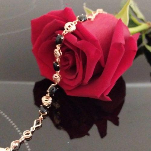 Женский позолоченный браслет с опалом