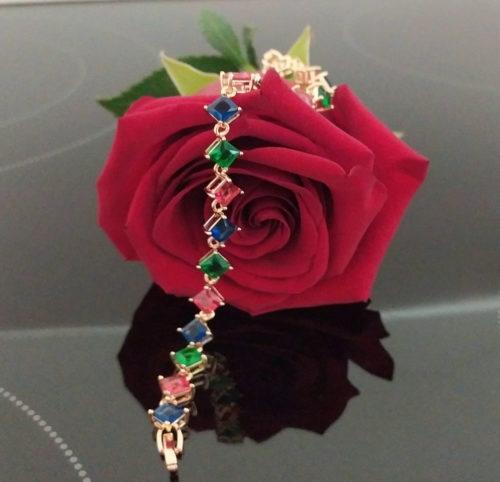 Женский позолоченный браслет BB