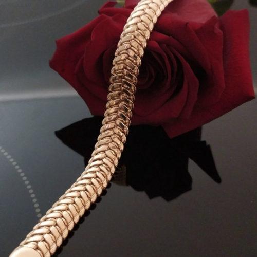 Мужской позолоченный браслет