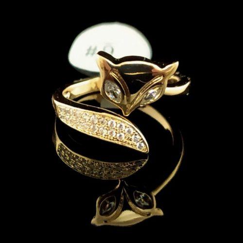 Кольцо позолоченное Лисичка