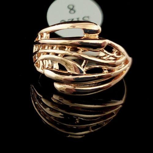 Kольцо позолоченное золото 750 пробы