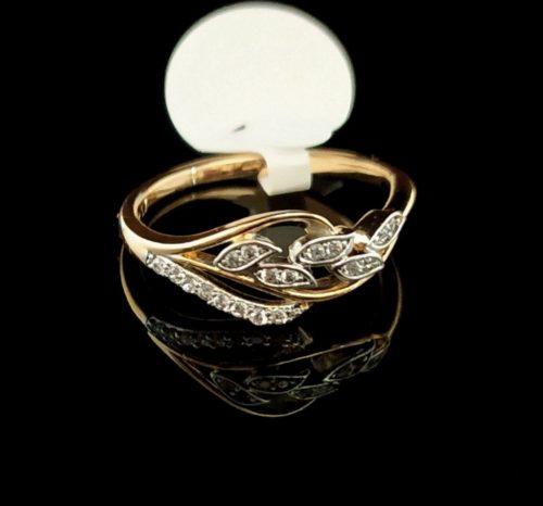 Женское кольцо позолота 750 пробы с Фианитом