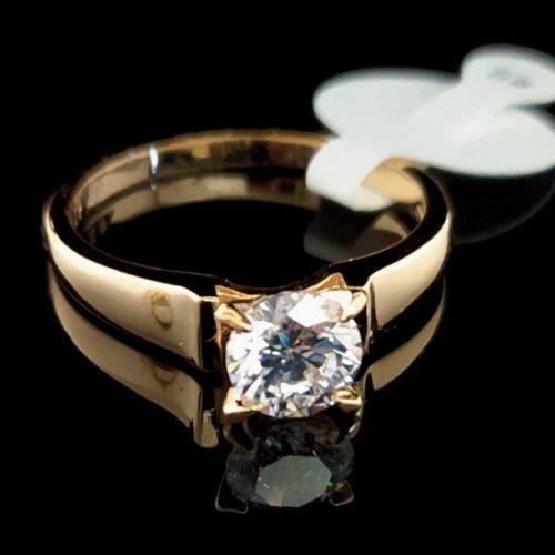 Женское позолоченное помолвочное кольцо