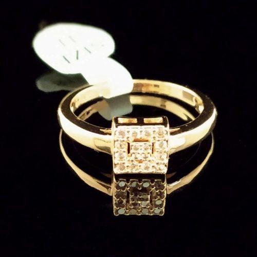 Kольцо позолоченное  с Фианитом