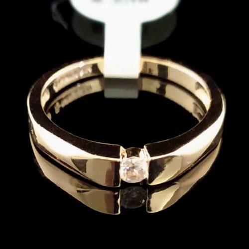 Женское позолоченное кольцо золото 750 пробы обручальное