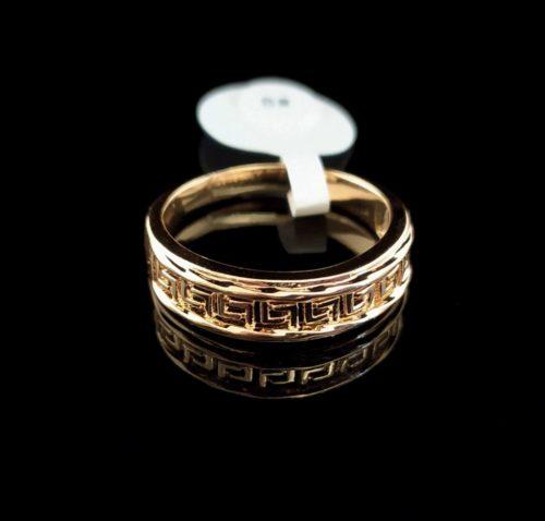 Женское позолоченное кольцо золото 585 пробы обручальное