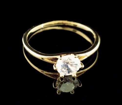 Kольцо позолоченное помолвочное  с Фианитом