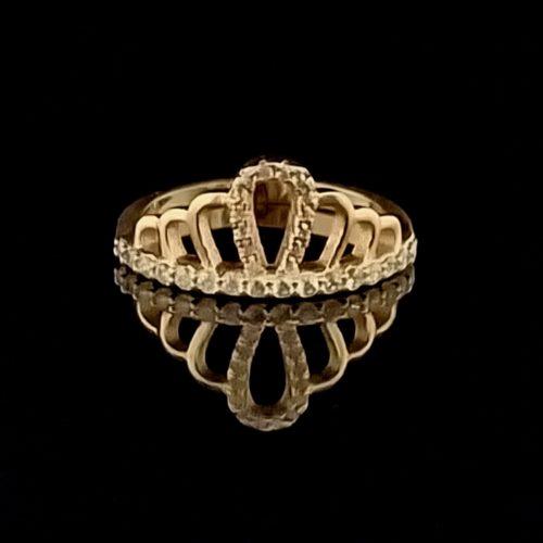 Kольцо позолоченное золото 585 пробы Корона