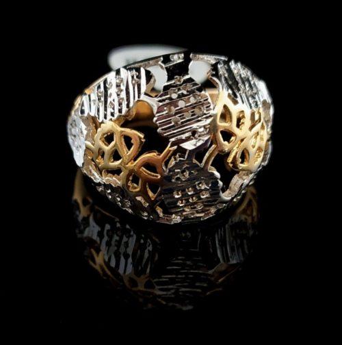 Kольцо позолоченное белое золото