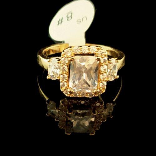 Kольцо позолоченное золото 750 пробы с Алмазом