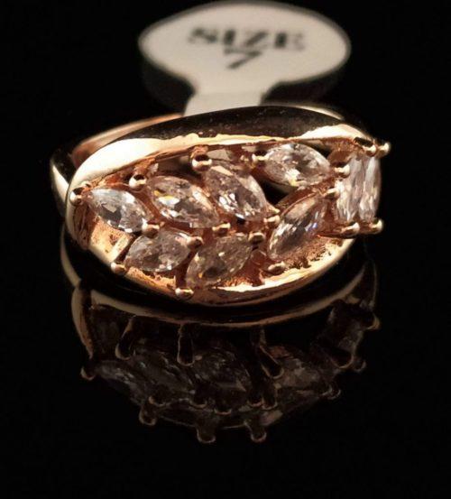 Kольцо позолоченное золото 750 пробы с горным хрусталем