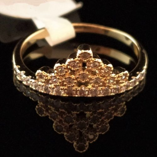 Кольцо позолоченное золото 585 пробы Диадема