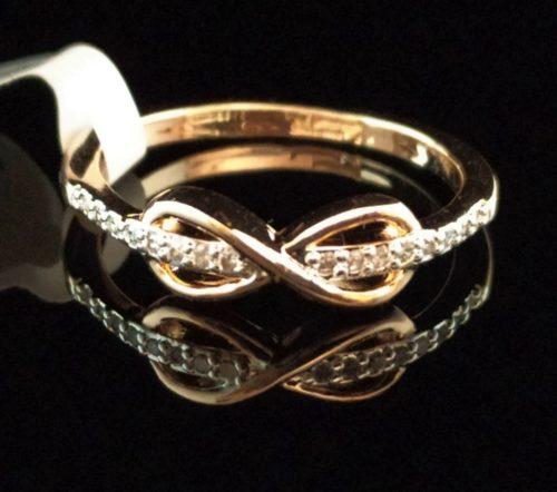 Kольцо позолоченное золото 750 пробы Бесконечность