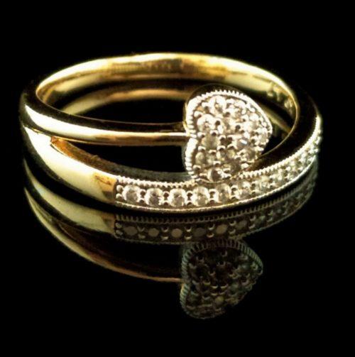 Kольцо позолоченное Сердце