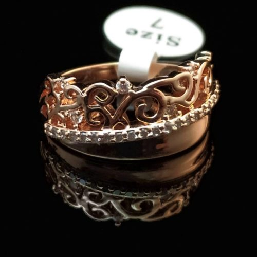 Женское позолоченное кольцо с Фианитом
