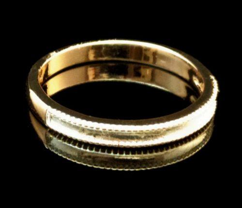 Женское кольцо позолоченное обручальное