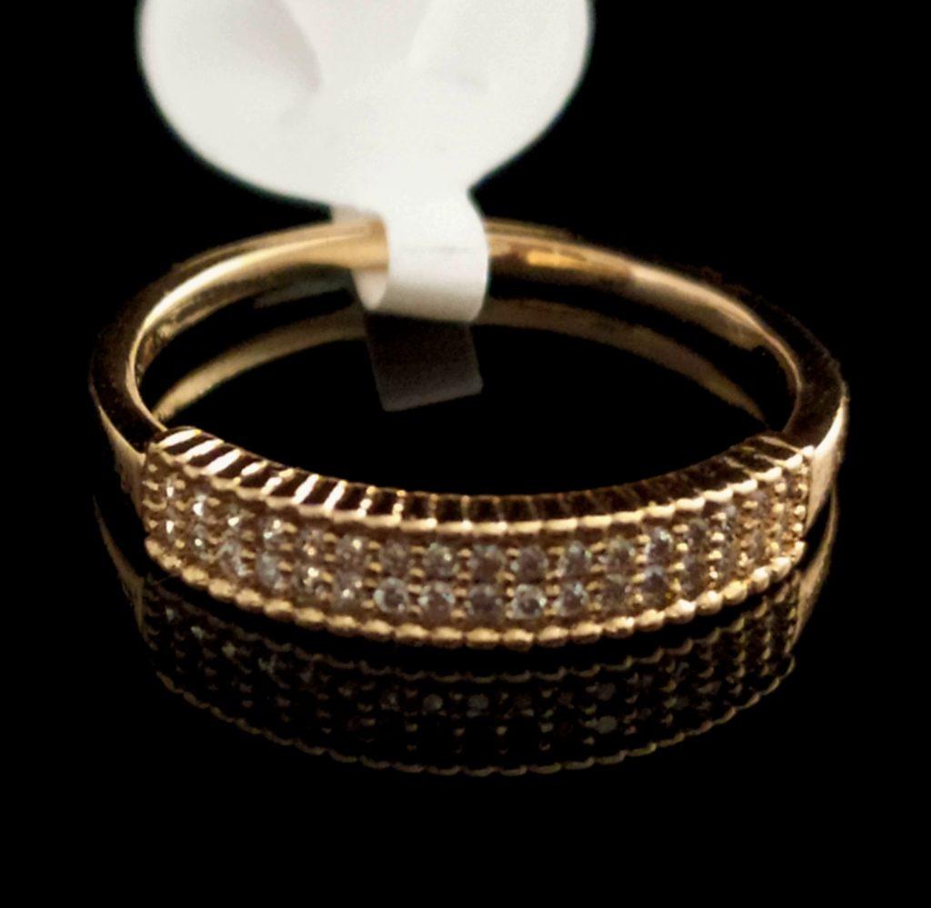 Kольцо позолоченное золото 585 пробы