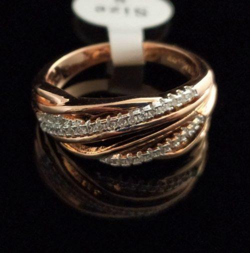 Kольцо позолоченное 585 пробы с Фианитом