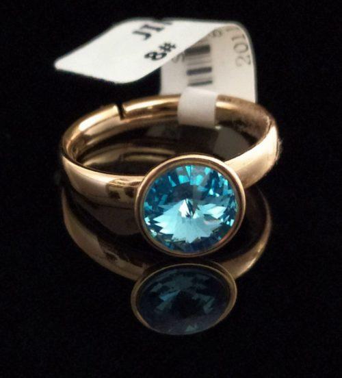 Женское позолоченное кольцо с камнем