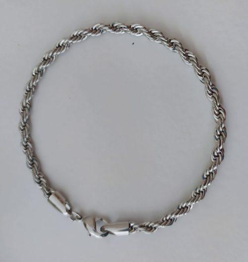 Браслет позолоченный веревка 910