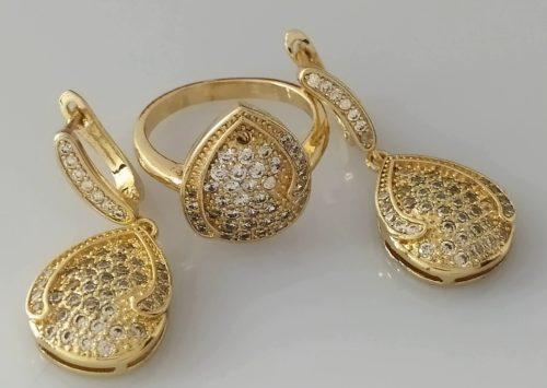 Комплект серьги с кольцом