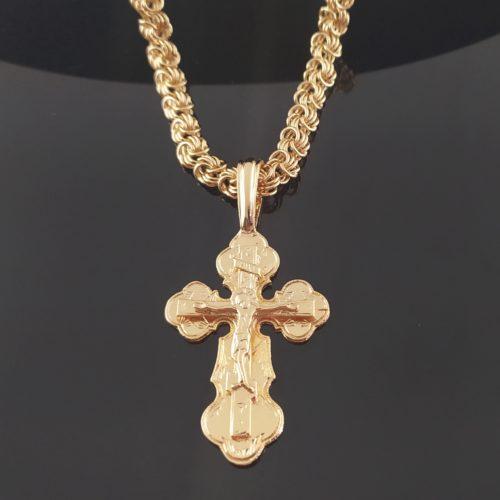 Позолоченный крестик с цепочкой