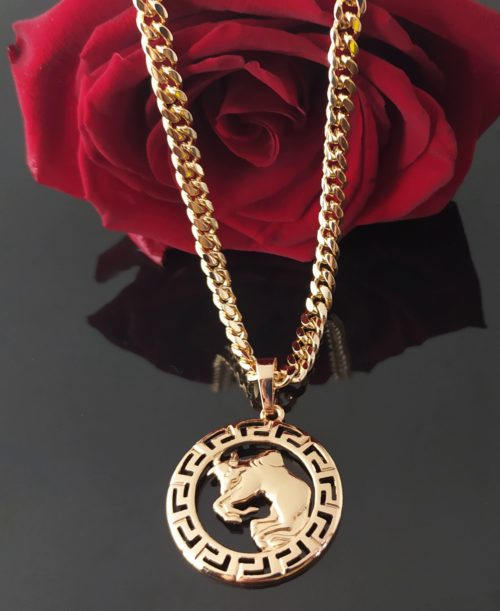 Кулон с цепочкой позолоченный «Знаки зодиака»