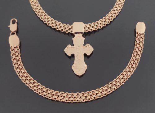 Kомплект Цепочка, браслет и крестик