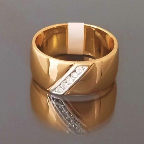 Kольцо позолоченное золото 585 пробы обручальное